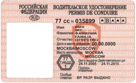 Пластиковый водительское удостоверение — векторное изображение.